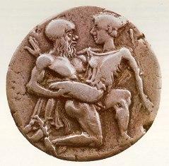 """За  античните монети от типа """"Силен и Нимфа""""  """"силен и нимфа"""""""