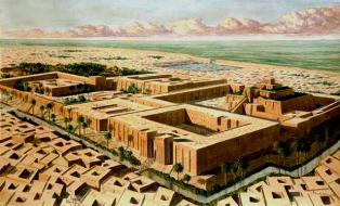 Стар шумерски пристанищен град се проявява  в пустинята.